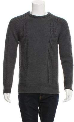 Helmut Lang Woven Crew Neck Sweater