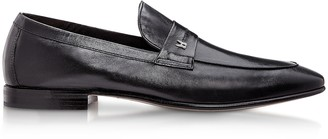 Moreschi Brisbane Black M Kangaroo Leather Loafer Shoes