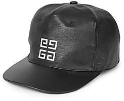 Givenchy Men's Textured Leather Baseball Cap
