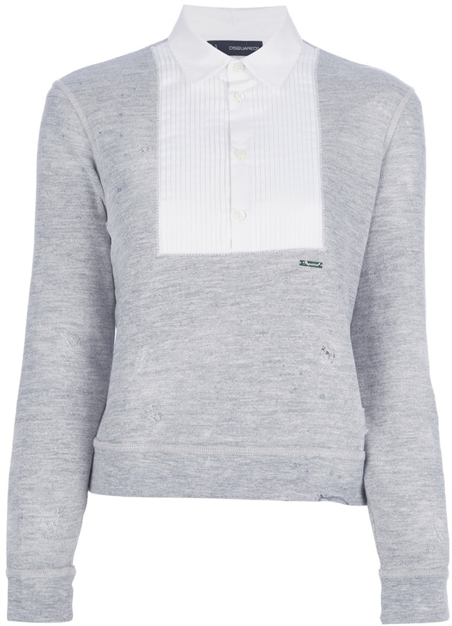 DSquared Dsquared2 pleated bib sweater