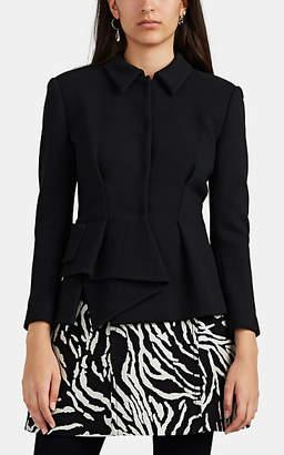 Proenza Schouler Women's Tapered Asymmetric Draped Blazer Jacket - Black