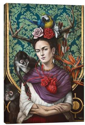 iCanvas Hommage a Frida by Sophie Wilkins Giclee Print Canvas Art