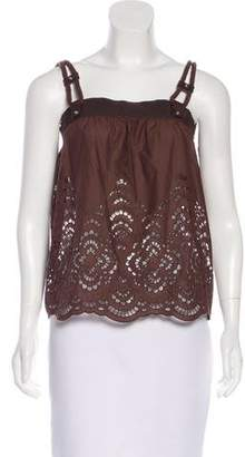 Gucci Sleeveless Eyelet Top