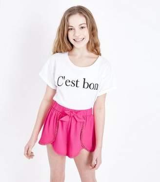 New Look Girls Bright Pink Beach Shorts