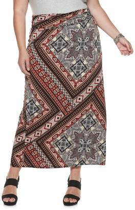 Apt. 9 Plus Size Print Column Maxi Skirt