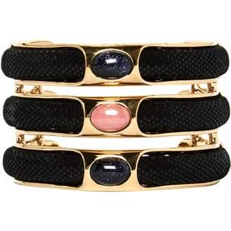 Roberto Cavalli Black Metal Bracelets
