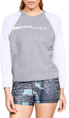 Under Armour Womens UA Rival Fleece Crew