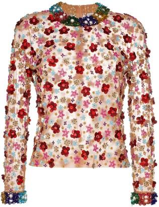 Ashish beaded floral top