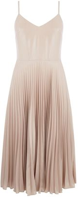 Warehouse Foil Pleated Dress