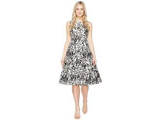 Adrianna Papell Sleeveless Print Mikado Party Dress Women's Dress