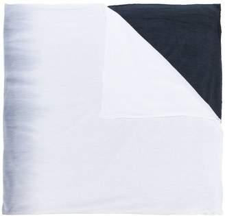 Unconditional horizontal dip dye scarf