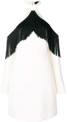 David Koma fringed off shoulder dress