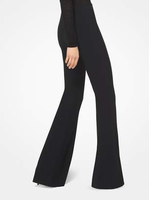 Michael Kors Double Crepe-Sable Flared Trousers