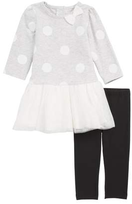 Little Me Polka Dot Tutu & Leggings Set