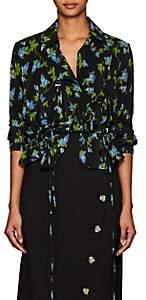 Altuzarra Women's Terese Floral Silk Blouse - Black