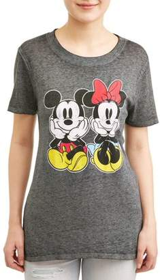 7cce89c0d Mickey Mouse Junior's Mickey & Minnie Graphic Heather T-Shirt