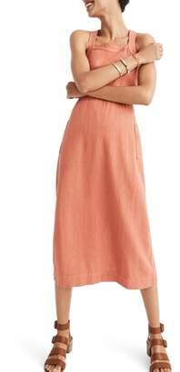Madewell Garment Dye Apron Maxi Dress