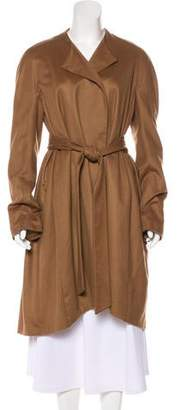 The Row Cashmere Pleated Coat