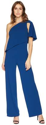 Adrianna Papell One Shoulder Knit Crepe Jumpsuit Women's Jumpsuit & Rompers One Piece