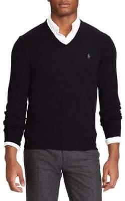Polo Ralph Lauren Big Tall V-Neck Merino Wool Sweater