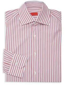 Isaia Striped Long-Sleeve Dress Shirt