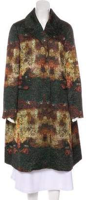 Co Knee-Length Printed Coat