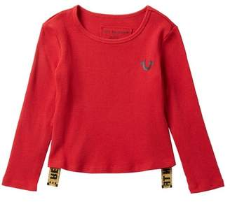 True Religion Long Sleeve Thermal Tee (Toddler & Little Girls)