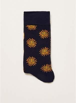 Topman Mens Navy Sun Socks
