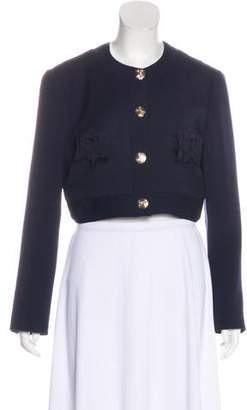 Blumarine Collarless Cropped Jacket