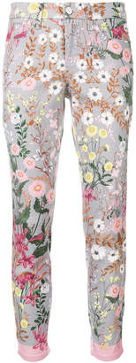 Cambio floral skinny jeans