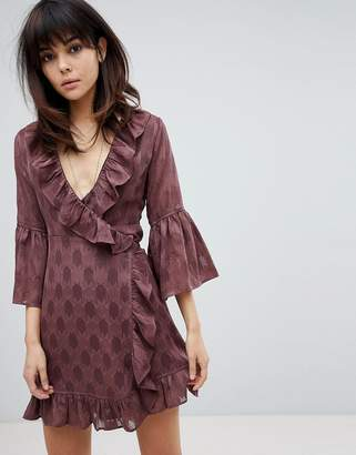 Religion Wrap Front Dress