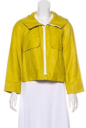 See by Chloe Linen Hooded Casual Jacket