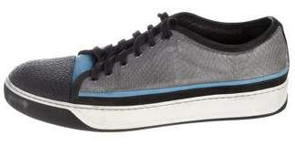 Lanvin Snakeskin Cap-Toe Sneakers