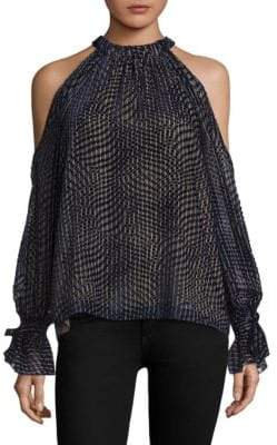 BCBGMAXAZRIA Velvet Burnout Top