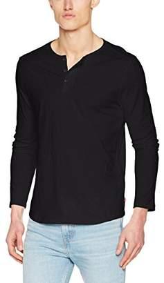 ad1afe869c2 Levi's Men's Ls Classic Henley T-Shirt, (Jet Black 0001), Small
