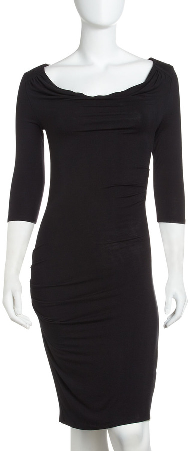 Catherine Malandrino Cutout Back Cowl-Neck Dress