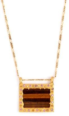 Orit Elhanati - Venice 18kt Gold & Sapphire Necklace - Womens - Brown