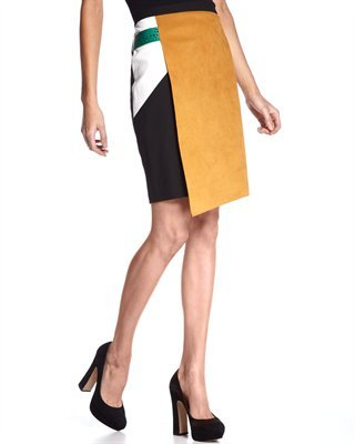 Sachin + Babi Colorblock Wrap Skirt