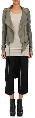 Rick Owens Women's Leather Biker Jacket - Charcoal