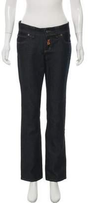 John Galliano Mid-Rise Straight-Leg Jeans