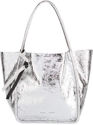 af5a038318a1 Silver Tote Bags Style. Gucci Metallic Silver Guccissima Leather ...