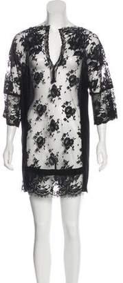 Vionnet Long Sleeve Mini Dress