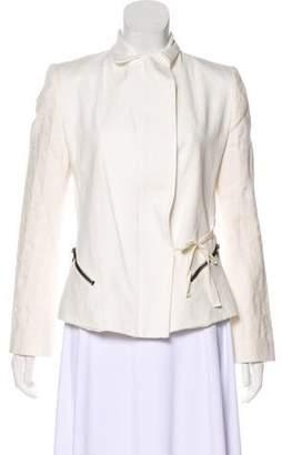 Ann Demeulemeester Woven Peak-Lapel Jacket