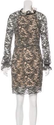 Rebecca Vallance Lace Accented Midi Dress
