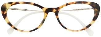 Miu Miu panelled tortoiseshell glasses