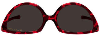 Martine Rose Red and Black Mykita Edition Giraffe SOS Sunglasses