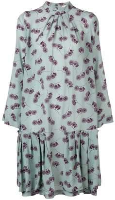 Odeeh pleated floral print dress