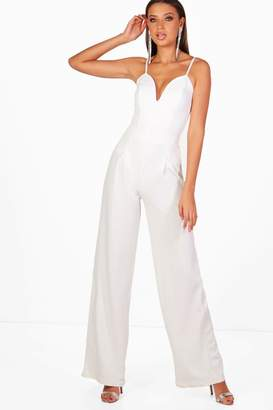 boohoo Tall Wide Leg Pleat Front Trousers