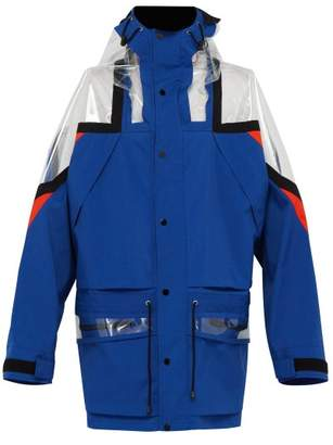 Maison Margiela Pvc Panelled Technical Jacket - Mens - Blue