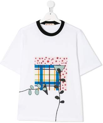 Marni TEEN patchwork print T-shirt